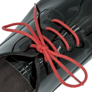 Waxed Cotton Dress Shoelaces - Red 60cm Round