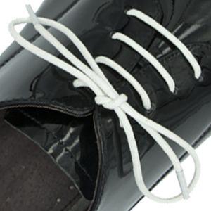 Waxed Cotton Dress Shoelaces - White 60cm Round