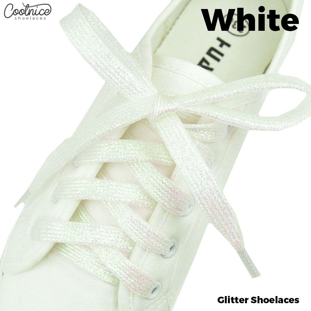 Glitter White Shoelaces Australia