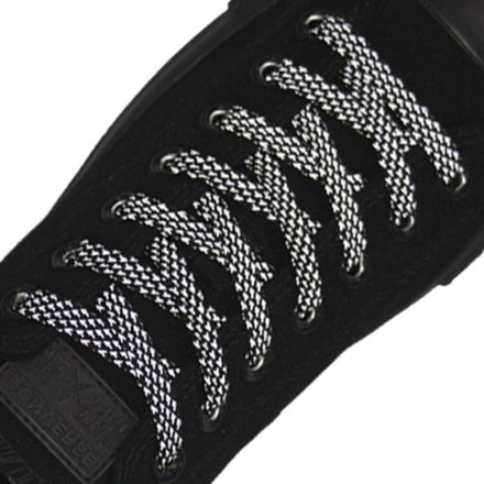 Reflective Shoelaces Flat Black 120 cm