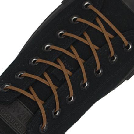 Length: 60cm | Width: 3mm | Flat Brown Wax Shoelace
