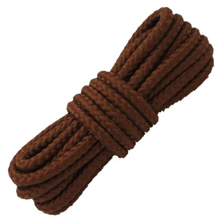 Brown Round Solid Shoelace / Bootlace Diameter: 5mm