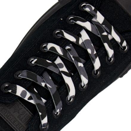 Black Camouflage Shoelace Flat 1cm