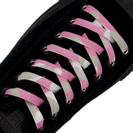Pink Camouflage Shoelace Flat 1cm