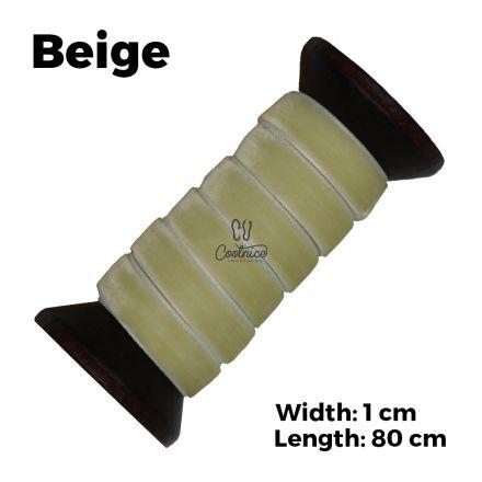Velvet Ribbon Shoelaces - Beige L: 80cm W: 1cm