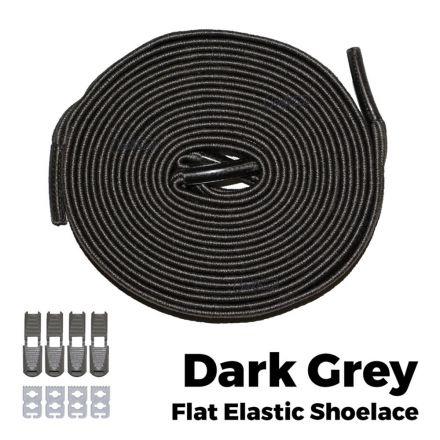 oFashion Flat Elastic No Tie Shoelaces - Dark Grey