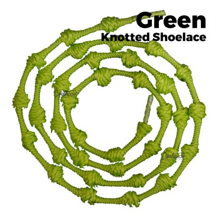 oFashion Knotted No Tie Shoelaces - Green Main