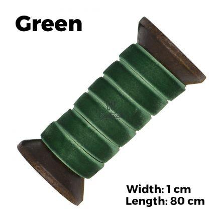 Velvet Ribbon Shoelaces - Green L: 80cm W: 1cm