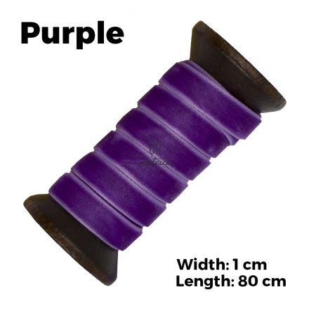 Velvet Ribbon Shoelaces - Purple L: 80cm W: 1cm