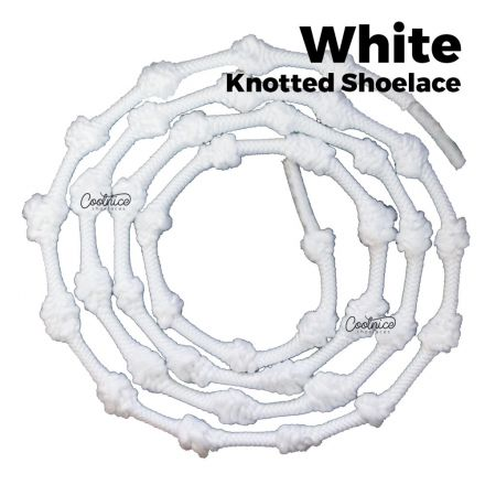 oFashion Knotted No Tie Shoelaces - White