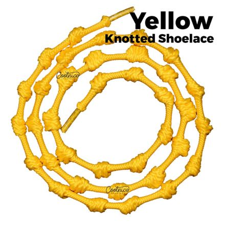 oFashion Knotted No Tie Shoelaces - Yellow Main