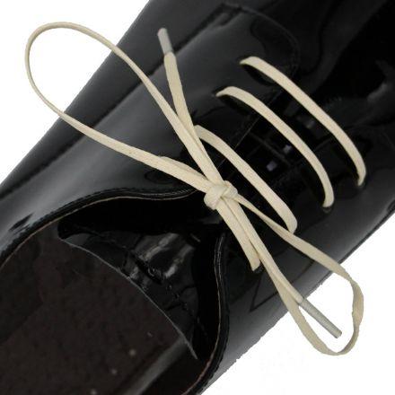 Length: 60cm | Width: 3mm | Flat Cream Wax Shoelace