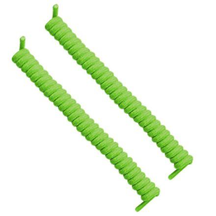 Curly Elastic No Tie Shoelace Neon Green