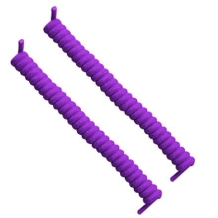 Curly Elastic No Tie Shoelace Purple