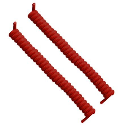 Curly Elastic No Tie Shoelace Red