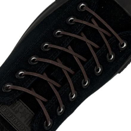 Length: 60cm | Width: 3mm | Flat Dark Brown Wax Shoelace