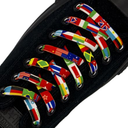 Flags Of The world Shoelace Flat 1cm