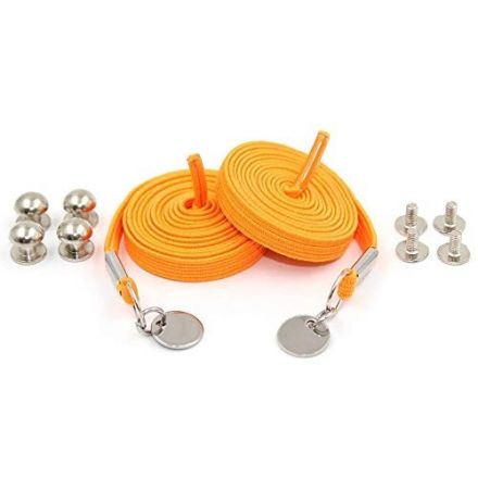 Orange Loop Flat Elastic No Tie Shoelaces