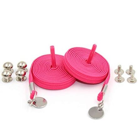 Pink Loop Flat Elastic No Tie Shoelaces