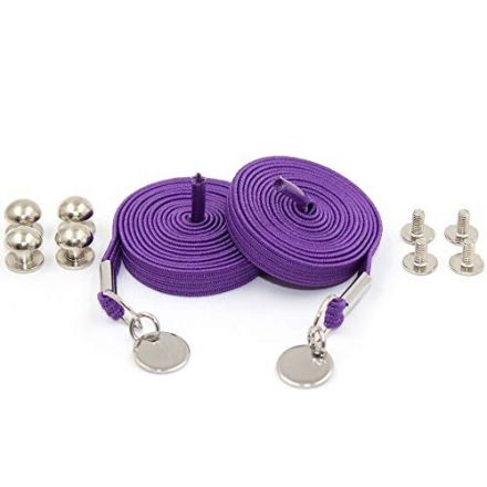 Purple Loop Flat Elastic No Tie Shoelaces