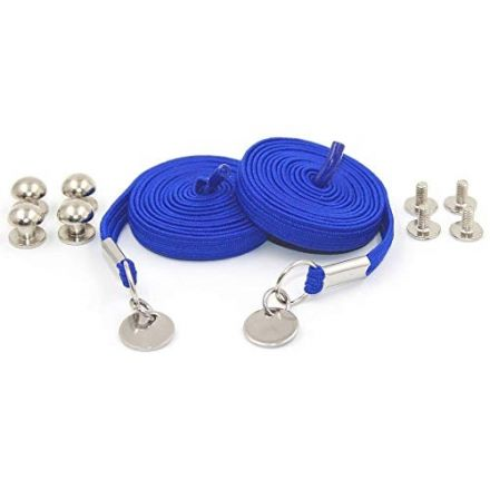 Royal Blue Loop Flat Elastic No Tie Shoelaces