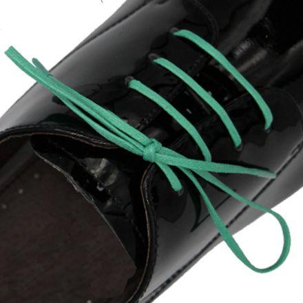 Length: 60cm | Width: 3mm | Flat Green Wax Shoelace