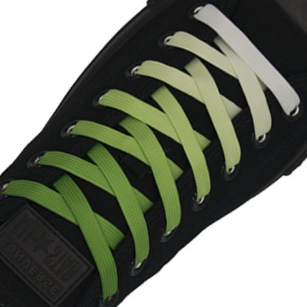 Length: 110cm | Width: 10mm | Green Faded Shoelace Flat