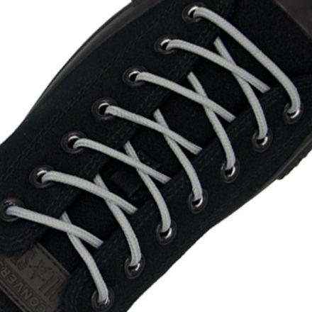 Polyester Shoelace Round - Grey Length 120cm Diameter Ø4mm