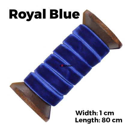 Velvet Ribbon Shoelaces - Royal Blue L: 80cm W: 1cm