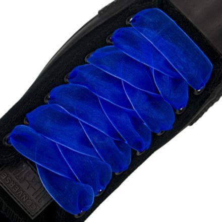 Organza Shoelaces - Royal Blue 120cm Length 2.5cm Width Flat