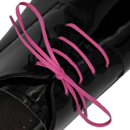Length: 60cm | Width: 3mm | Flat Pink Wax Shoelace