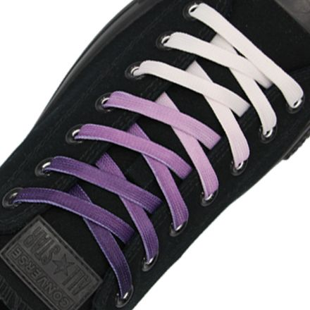 Length: 110cm | Width: 10mm | Purple Faded Shoelace Flat