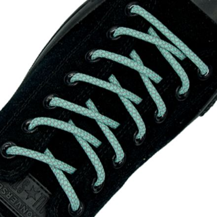 Reflective Shoelaces Round Aqua 100 cm - Ø5mm Cross