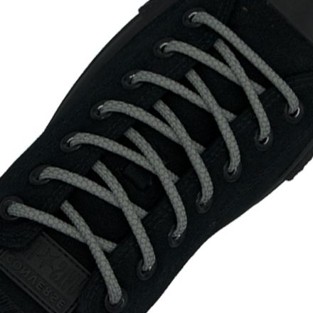 Reflective Shoelaces Round Grey 100 cm - Ø5mm Cross