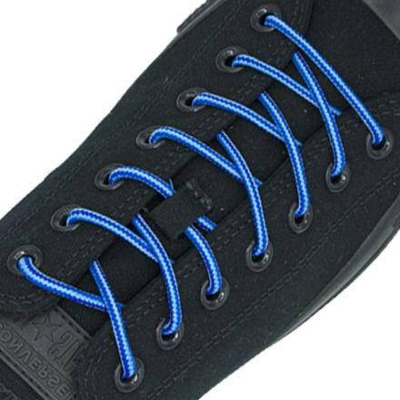 Two Tone Bootlace Shoelace Light Blue Blue 100cm - Ø4mm