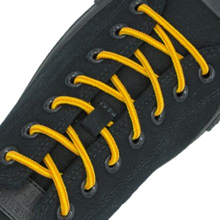 Two Tone Bootlace Shoelace Orange Yellow 100cm - Ø4mm