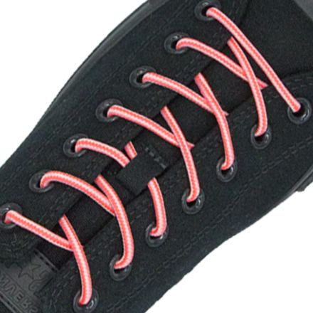 Two Tone Bootlace Shoelace Pink White 100cm - Ø4mm