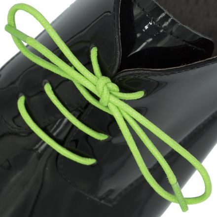 Waxed Cotton Dress Shoelaces - Light Green 60cm Length 2mm Round