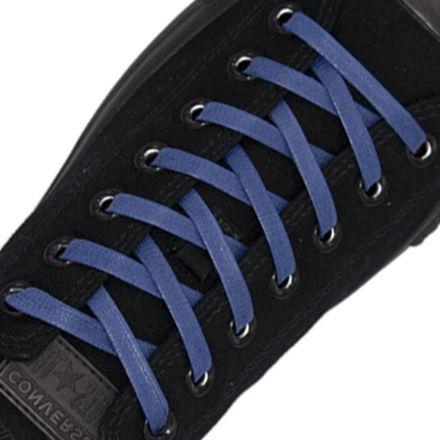 7mm Blue Wax Shoelaces Flat - 120cm