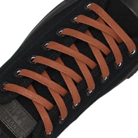 Waxed Cotton Boots Sneaker Casual Shoelaces - Brown 120cm Round Strings