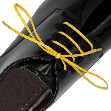 Length: 60cm | Width: 3mm | Flat Yellow Wax Shoelace