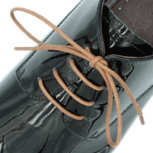 Waxed Cotton Dress Shoelaces - Brown 60cm Length 3mm Round