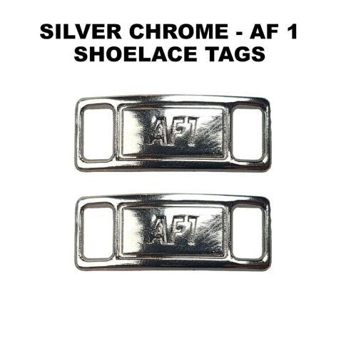 AF 1 Chrome Silver Shoelace Charm Buckle