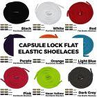 Capsule Lock Flat Elastic Shoelaces