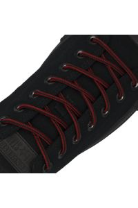 Red Black Two Tone Bootlace Shoelace - Ø5mm