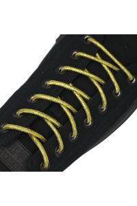 Gold Round Glitter Shoelaces