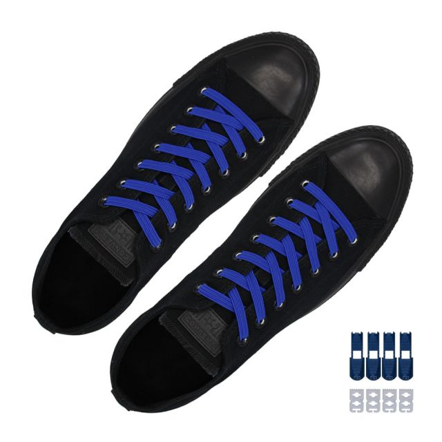 Coolnice Flat Elastic No Tie Shoelaces - Blue