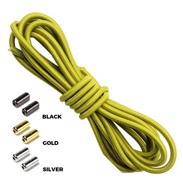 Olive Green Round Elastic Shoelaces Capsule Lock