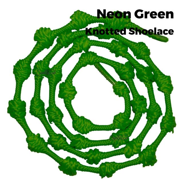 Coolnice Knotted No Tie Shoelaces - Neon Green Main
