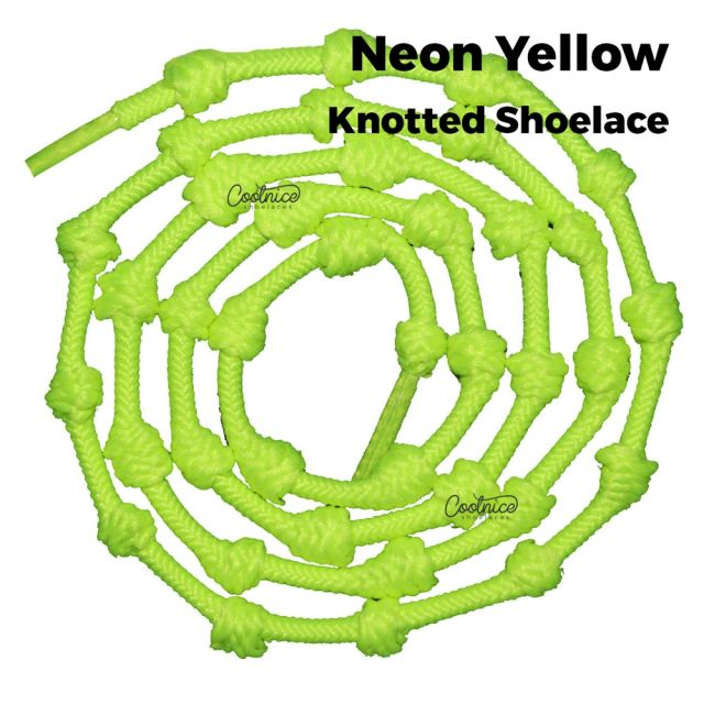 Coolnice Knotted No Tie Shoelaces - Neon Yellow Main